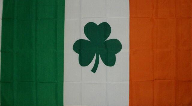 IRISH SHAMROCK CLOVER LEAF IRELAND ST PATRICKS DAY FLAG NEW 3x5ft