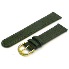 Leather Watch Strap Band, Shark Grain 20mm Green  g