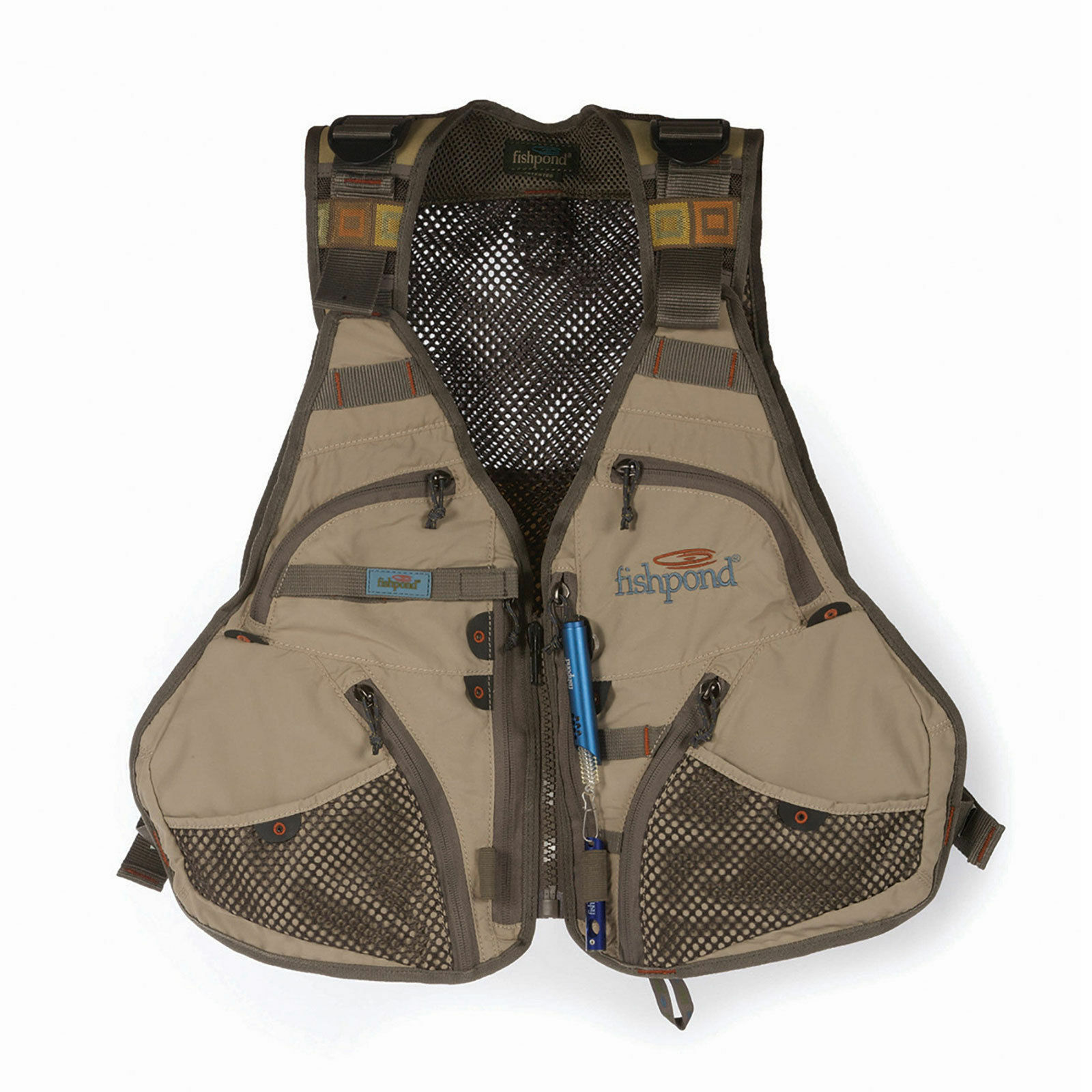 FISHPOND FLINT HILLS MESH FLY FISHING VEST FREE U.S. SHIPPING--CLAY COLOR, NEW