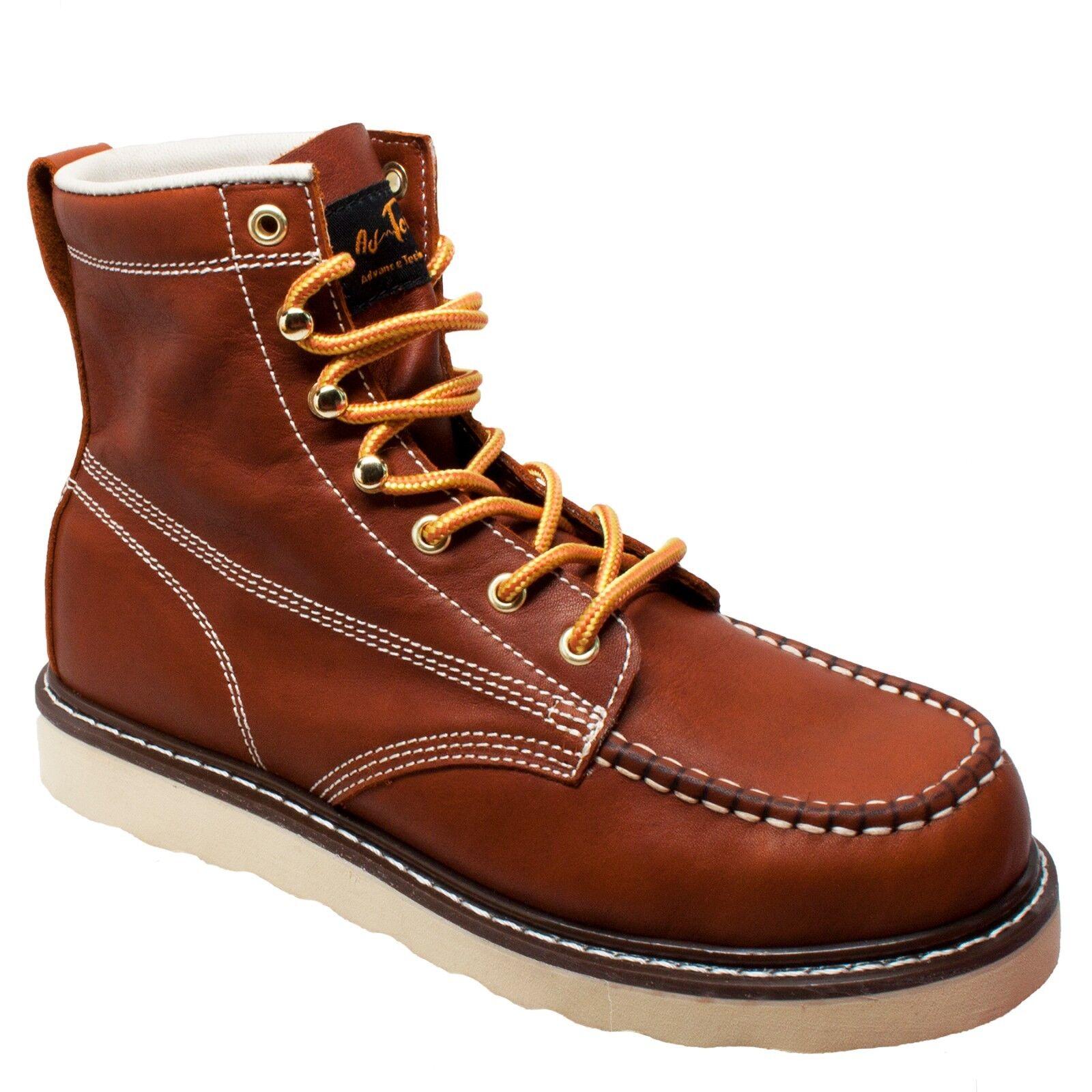 9238 L adtec, para hombres 6  Moc Toe botas De Trabajo De Cuero