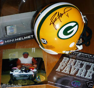 8ab938df2 BRETT FAVRE 4 AUTOGRAPHED SIGNED GREEN BAY PACKERS REGGIE WHITE 92 ...