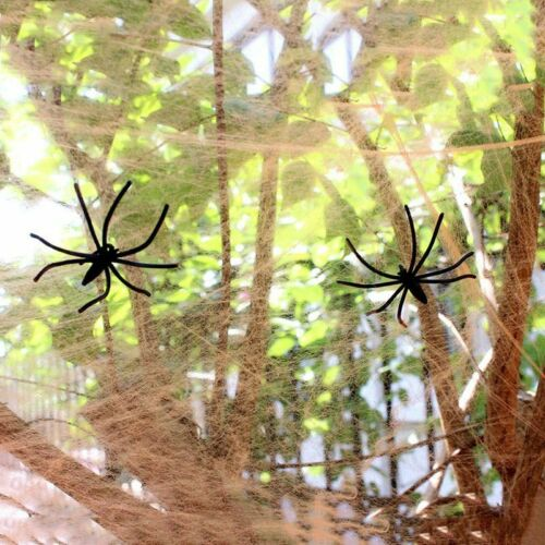 Halloween Scary Party Scene Props White Stretchy Cobweb Spider Web Horror House