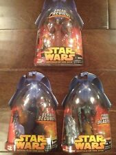 Star Wars ROTS 3 Figures-Super Battle Droid #4,Royal Guard Blue #23,Tion Medon