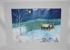 """Delores """"Dee"""" Lurker- The Bama Gr'Ma - Winter Scene  Art Print - Lot # 7"""