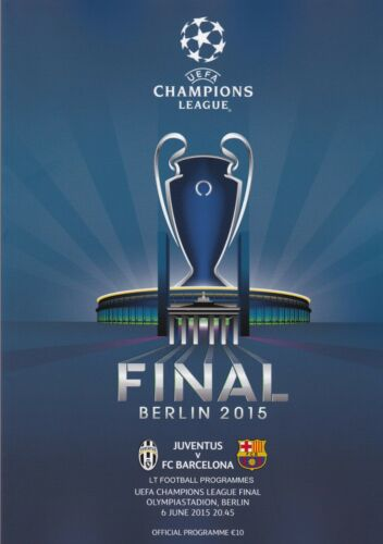 2015 UEFA CHAMPIONS LEAGUE FINAL BARCELONA v JUVENTUS OFFICIAL PROGRAMME