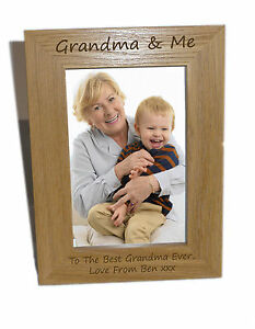 Details About Grandma Me Wooden Photo Frame 4x6 Personalise This Frame Free Engraving