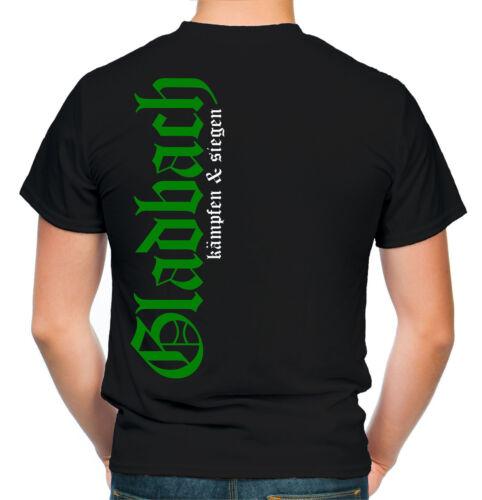 Gladbach Honneur /& fiers Hommes et T-Shirt hommesfootball ultras fanm1