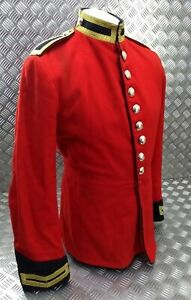 Genuine British Army Issue Life Guards Trooper Red H Cav Tunic Buttoned EBYT384