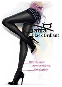 Gatta-Black-Brillant-Super-Blickdichte-glaenzende-Strumpfhose