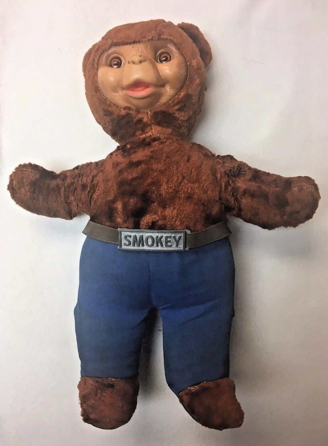 Vintage Old Ideal Smokey the Fires Bear Ranger Prevent Forest Fires the Stuffed Teddy Bear 968e07