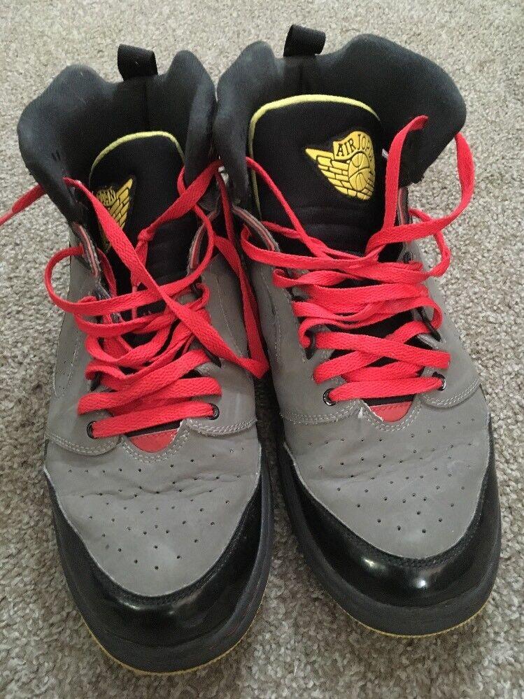 Nike Air Jordan Sixty Club Black/Red/Gray/Yellow Men's Sneakers Comfortable