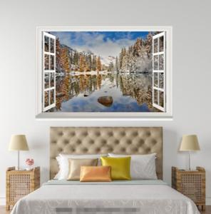 3D Snow Forest 537 Open Windows WallPaper Murals Wall Print Decal Deco AJ Summer