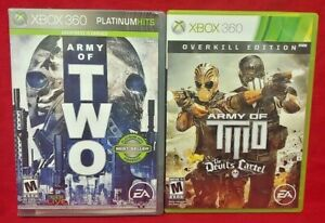 Army-of-Two-2-Devil-039-s-Cartel-MicroSoft-XBOX-360-Game-Lot-Tested-Works-Complete