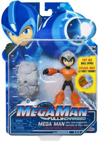 Fully Charged Series 1 Mega Man Deluxe Action Figure Drill Man Power