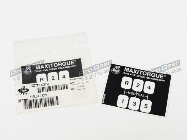 Mack 8 Speed Transmission Shift Pattern T2080 9RJ410M4 Pro Gear /& Transmission