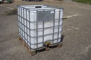 ibc tank regenwassertank sch tz mauser 1000l auf holzpalette 1 wahl 1 ebay. Black Bedroom Furniture Sets. Home Design Ideas