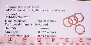 (4) x Copper Gasket M35 Military Surplus 7770223, 5310-00-209-1761