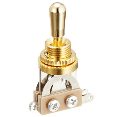 Made in Japan SHORT 3-Way Toggle Switch Brass Tip for Gibson Epiphone Les Paul