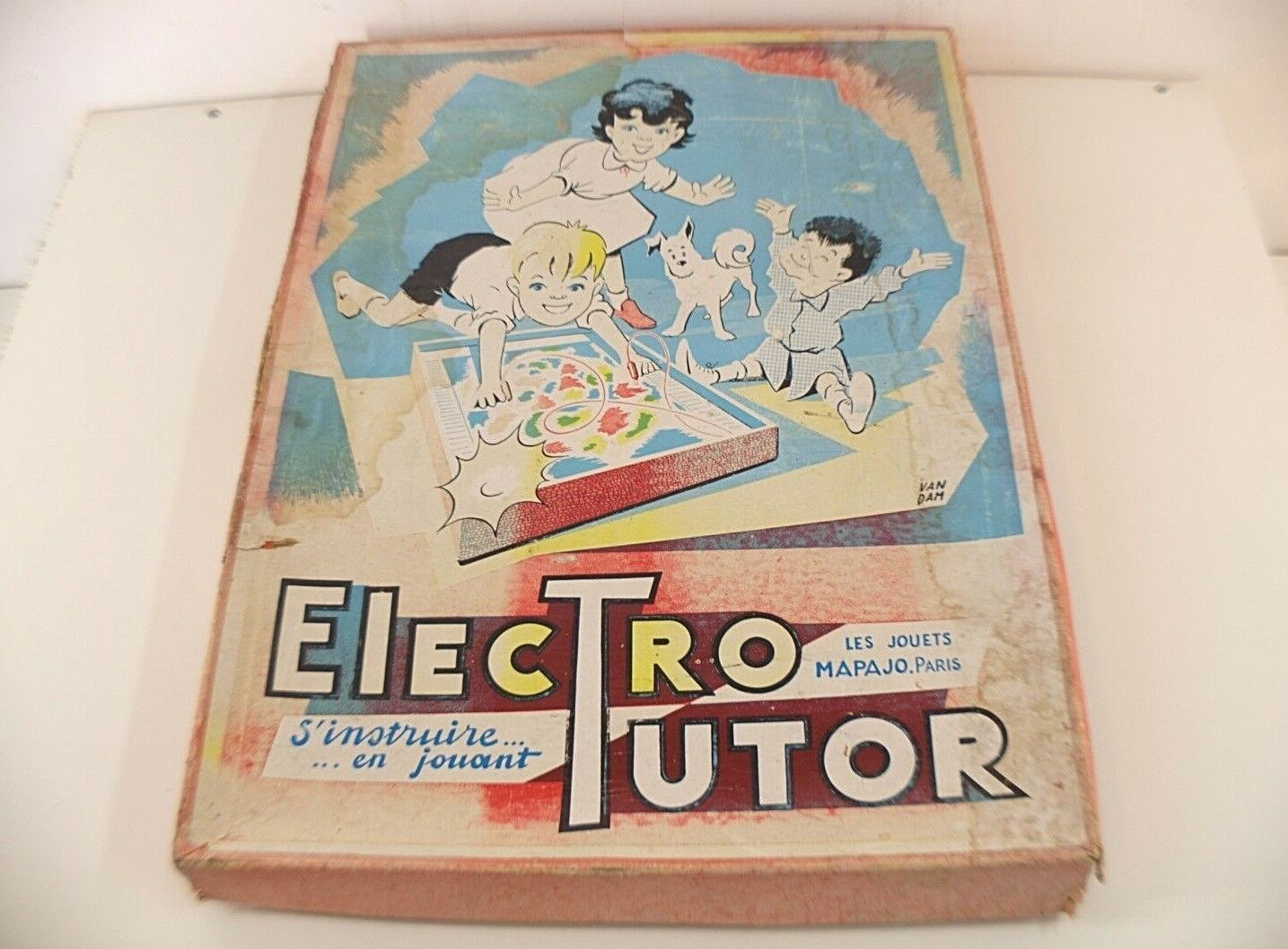 Les Jouets Mapajo Paris Spiel Electro-Tutor Caravelle Blaumen Karteien Selten