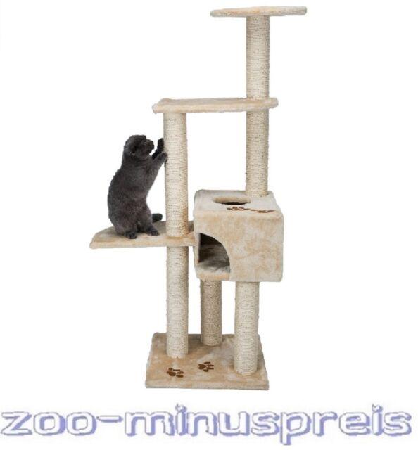 Katzen Kratzbaum ALICANTE 142 cm H, Grundfläche: 45×45 cm beige 9 cm Sisalstamm