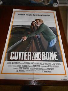 CUTTER-AND-BONE-1981-JEFF-BRIDGES-ORIGINAL-ONE-SHEET-POSTER