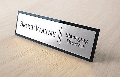 Stylish Desk Name, Custom Engraved Sign Name Plaque, Office, Home   eBay