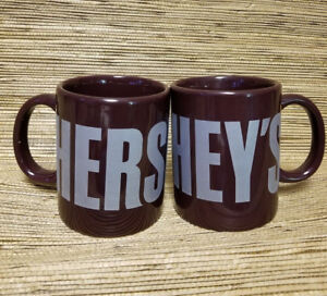 Brown-Hersheys-Logo-Chocolate-Bar-Coffee-Cocoa-Mug-12oz-Souvenir-Mugs-Set-of-2