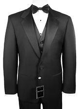 Man's Tuxedo with Flat Front Pants. Size 34 Regular Jacket & 28 (Waist) Pants.