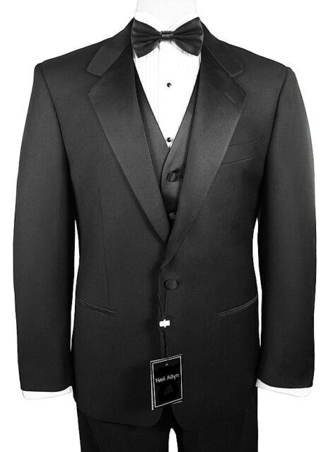 Men's Tuxedo with Flat Front Pants. 40R Jacket & 34 (Waist) Pants Wedding Formal