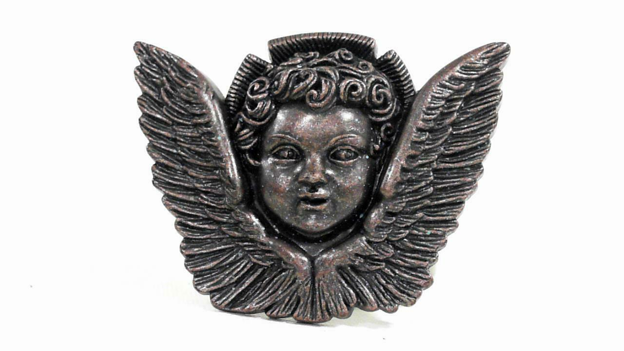 Washed Up Hollywood Angel Wings Womens Removable Buckle Bronze Solid Designer