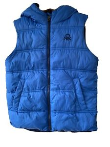 Details about Boys United Colours Of Benetton Body Warmer, Gilet, 7 8 Years, Blue