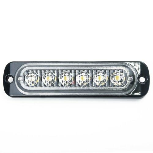 12V 18W 6 LED Work Light Bar Car SUV OffRoad Driving Fog Lamp Emergency White