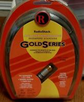 Radio Shack Gold Series Coax Cable - 12 Foot - Brand In Package