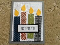 Reduced Friend Birthday Card Kit Of 9 Made W/ Stampin' Up Card Stock