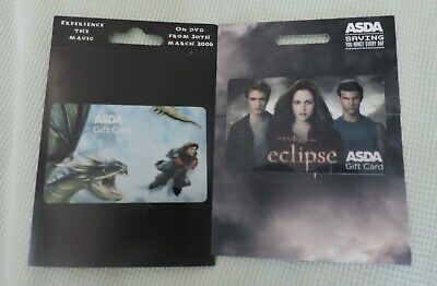 2 Asda Movie Gift Cards Uk No Value Collectors Item Lot 12 Ebay
