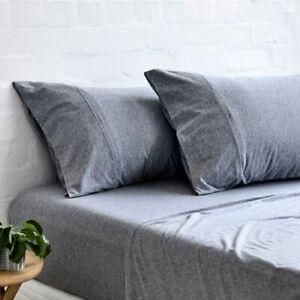 Gainsborough Cotton Jersey Sheet Set- Grey Marle