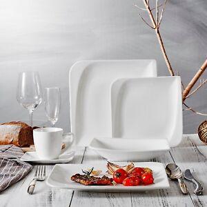 Vancasso-Cloris-30-teilig-Porzellan-Tafelservice-Weiss-Eckiges-Geschirrset