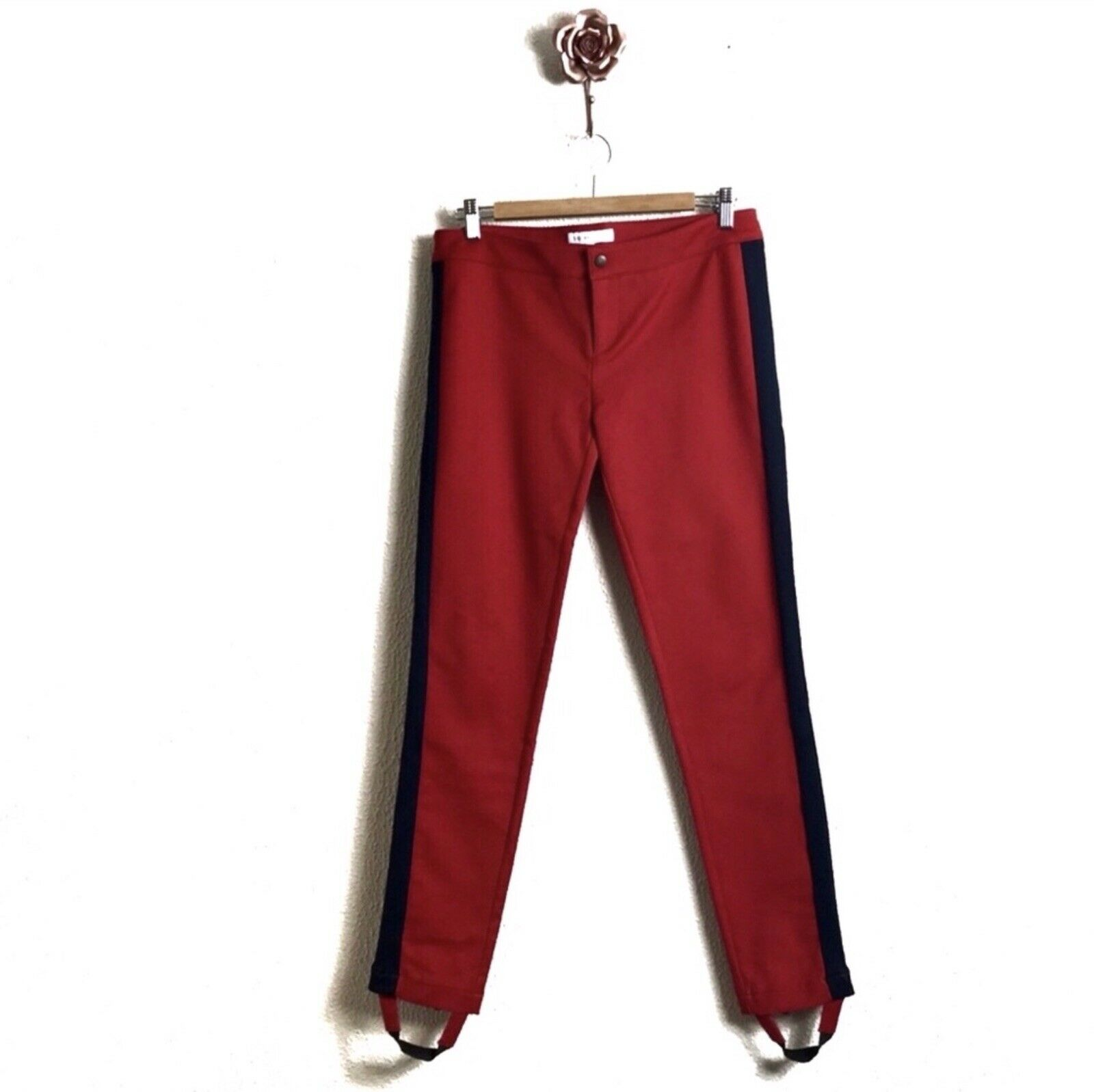 See By Chloe Red Tuxedo Stripe Size 8 Stir Up Pants