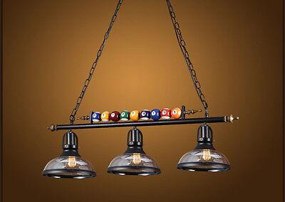 Details about  /Vintage Pool Billiard Snooker Table Light Pendant Lights Lamp Bar Chandelier