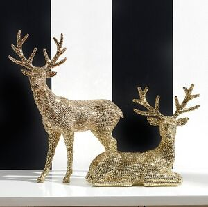 image is loading new raz imports 20 034 rhinestone gold deer - Christmas Reindeer 2