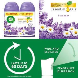 Air-Wick-Pure-Freshmatic-2-Refills-Automatic-Spray-Lavender-Chamomile-Air-Fre