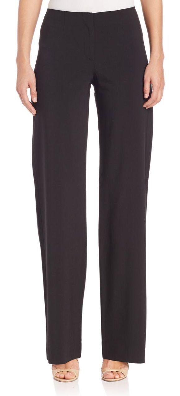 Piazza Sempione Marilyn Made in  braun Wool Elastane Wide Leg Pants Sz 46