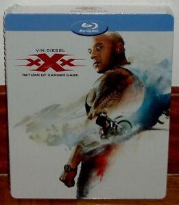 Xxx-Reactivated-Steelbook-Blu-Ray-New-Sealed-Vin-Diesel-Sleeveless-Open-R2