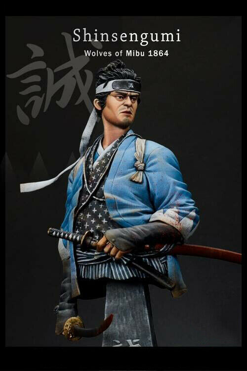 1 10 Scale Japan Samurai Bust Statue Unpainted Resin Figure Wlof of Mibu GK New