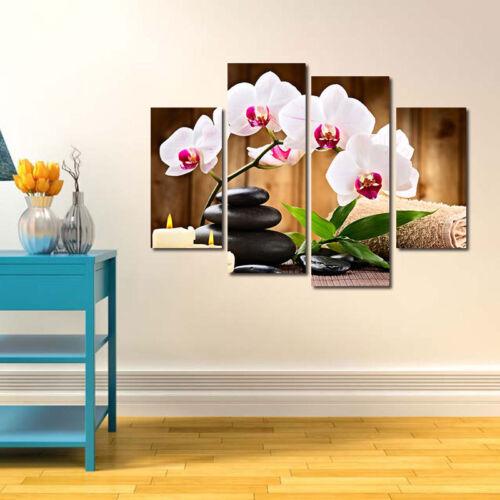 4Pcs  Flower Art Oil Painting Print Canvas Picture Living Room Decor Unframed US