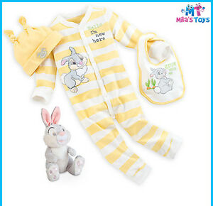 00bea7b7c63e Details about Disney Thumper Yellow Layette Gift Set for Baby sizes 3-12  months brand new