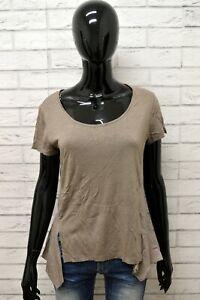 Maglia-BLAUER-Donna-Taglia-S-Maglietta-Shirt-Woman-Cotone-Manica-Corta-Seta