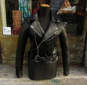 Caricamento dell immagine in corso  Giubbotto-giacca-chiodo-pelle-morbida-donna-nero-metal- b02ce79535e