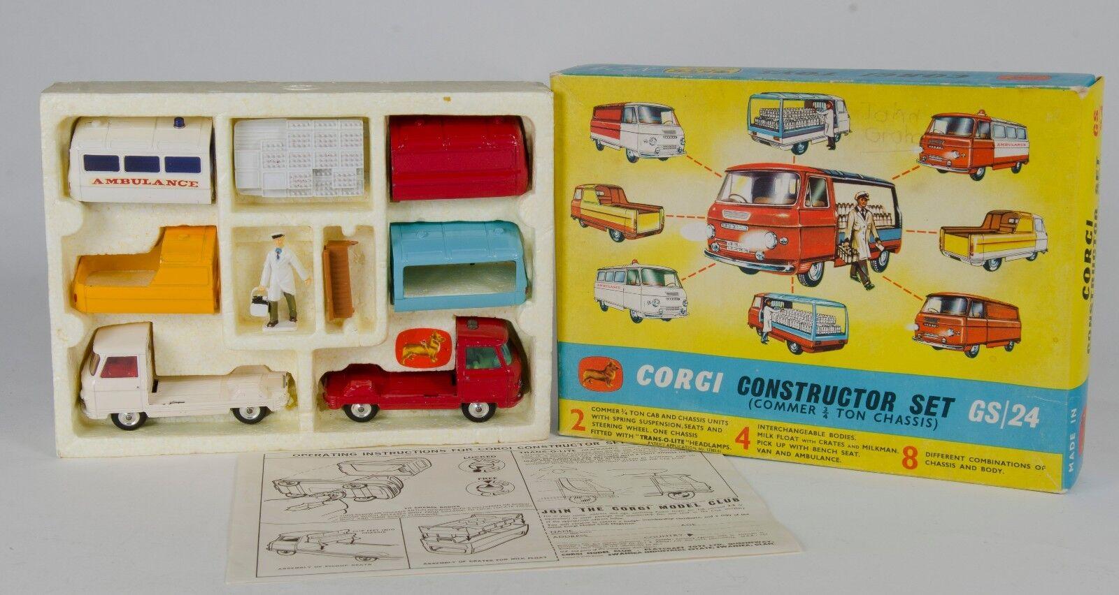 CORGI Gift Set 24 Set di costruzione (COMMER 3 4 TON telaio). in SCATOLA. anni 1960