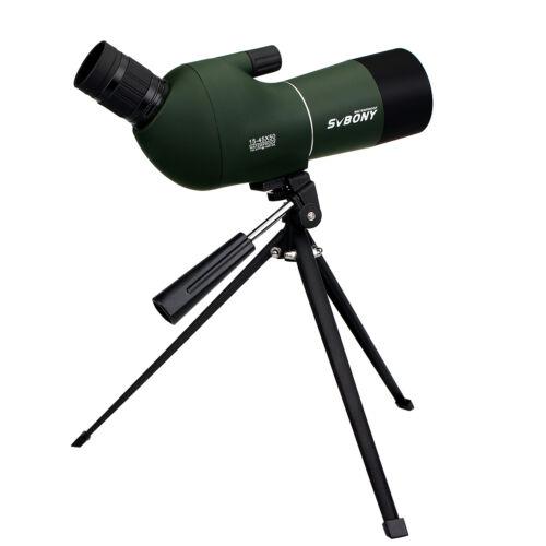 SVBONY 15-45x50mm Zoom Spotting Scope Ángulos caza y mira Telescopios Waterproof
